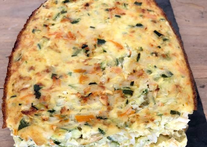 Cake surimi courgettes