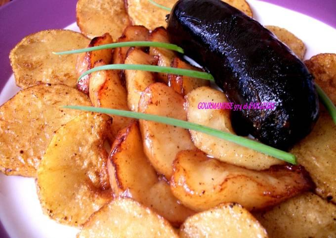 Boudin Noir Créole aux 2 🍏🥔 (pomme golden & pomme de terre),