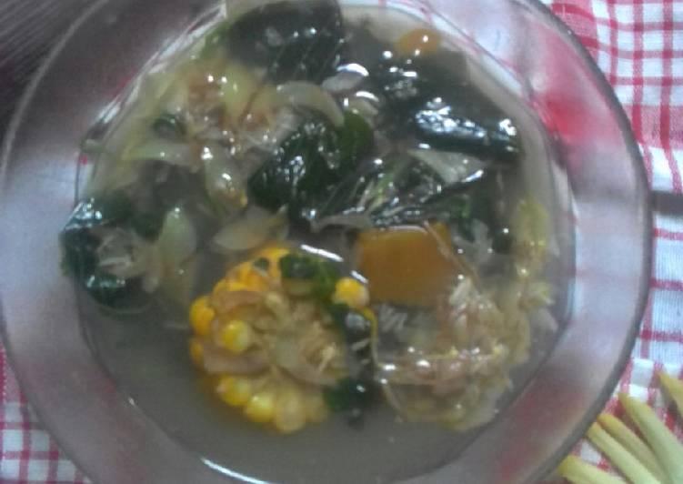 Sayur bening jantung pisang (menu ndeso)