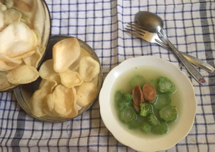Sup Gambas/Oyong Brokoli Sosis
