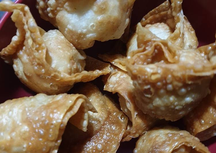 Langkah Mudah untuk Menyiapkan Pangsit goreng ayam Anti Gagal