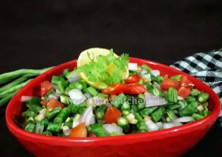 Step-by-Step Guide to Make Quick Yardlong Beans Salad / Long Beans Salad