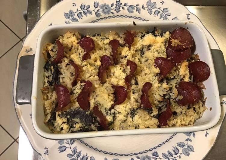 Le moyen le plus simple de Préparer Parfait Gratin de riz aux trompettes de la mort bœuf séché et parmesan