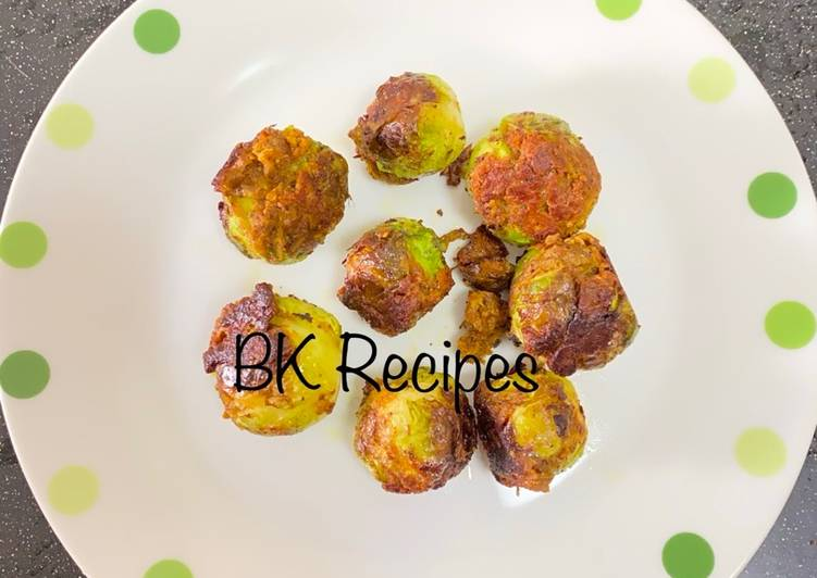 Stuffed Brussels Sprouts Sabji