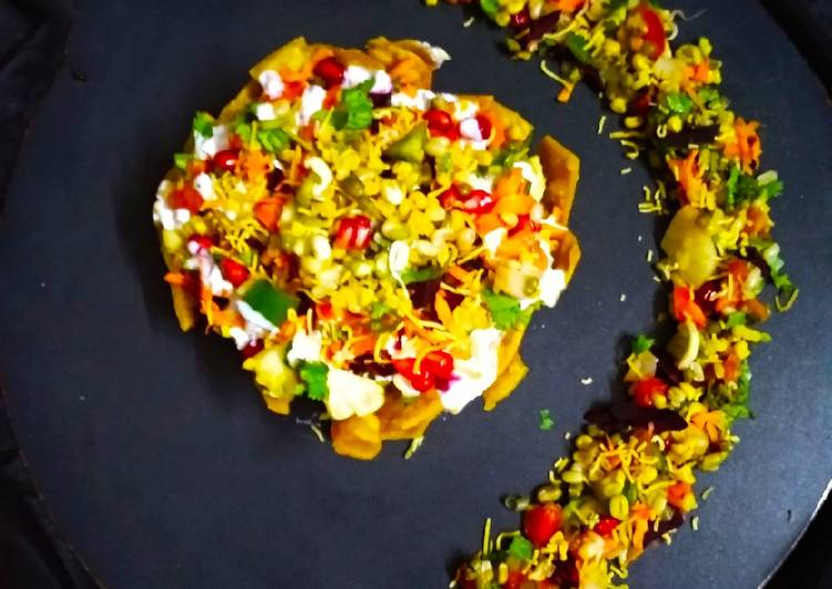Sprouts Corn Tokri Chaat Finding Healthy Fast Food