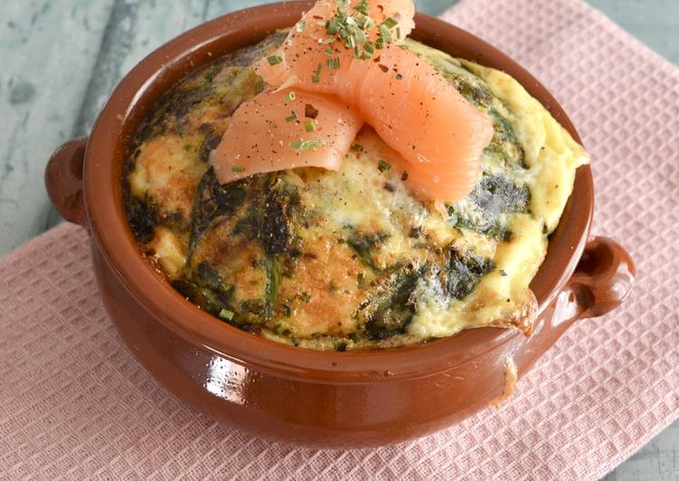 Smoked Salmon Baked Omelette