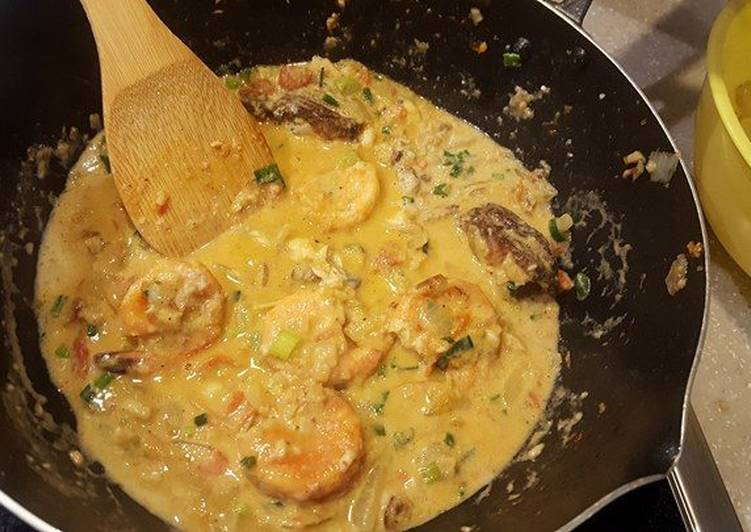 Easiest Way to Make Homemade Shrimp & fish coconut curry