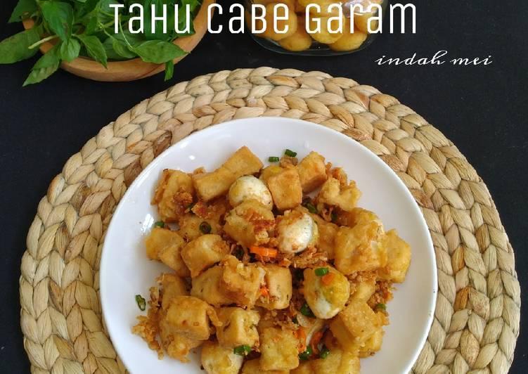 Tahu (+ Telur) Cabe Garam