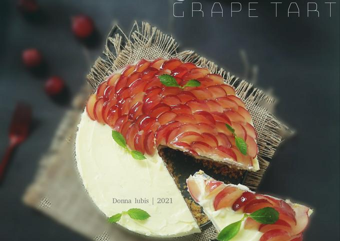 Layered Grape Tart - No Bake