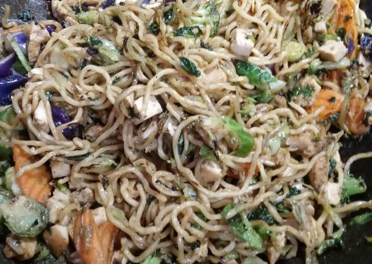 Chicken Teriyaki Noodle Stir-Fry