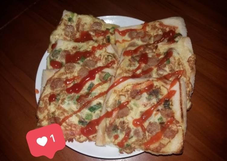 Pizza mini roti tawar😋