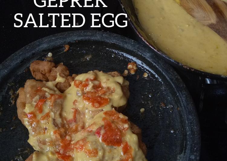 Ayam Geprek Salted Egg