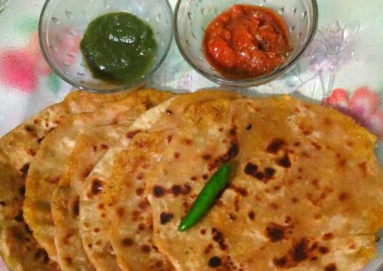 Recipe of Super Quick Homemade Mooli ke Parathe