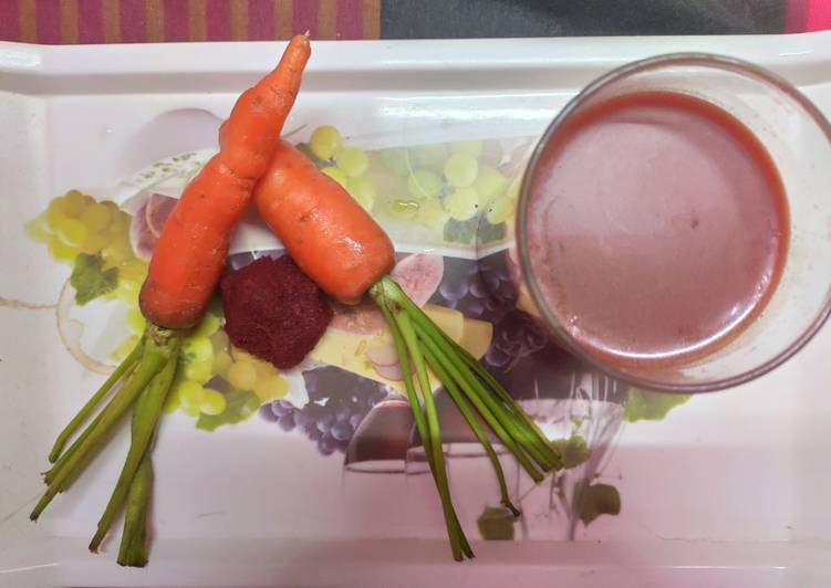 Carrot beetroot juice