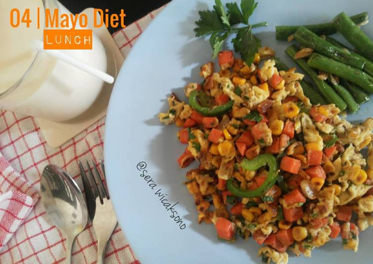 Resep Mayo day 4 – Lunch | veggie scramble egg Paling Mudah