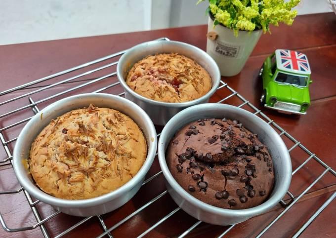 Muffin Strawberry Cheese & Chocolate 🍓🍫
