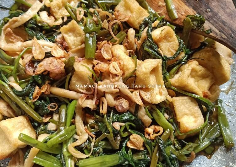 Mamaci Kangkung Tahu Sutra