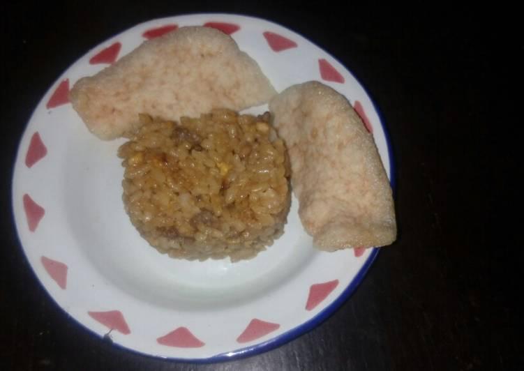 Resep Nasi goreng teri daging (no MSG & anti gtm batita) Paling Mudah