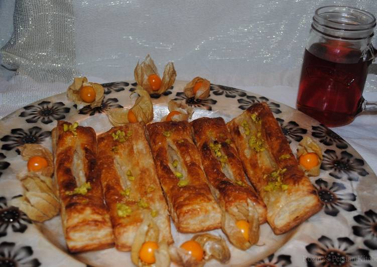 How to Make Most Popular Persian zaban puff pastry