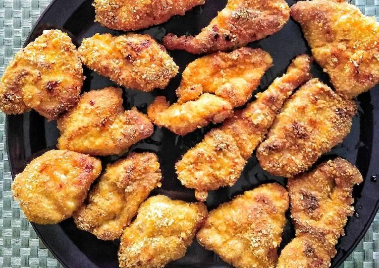 Cornflakes nuggets di pollo al forno