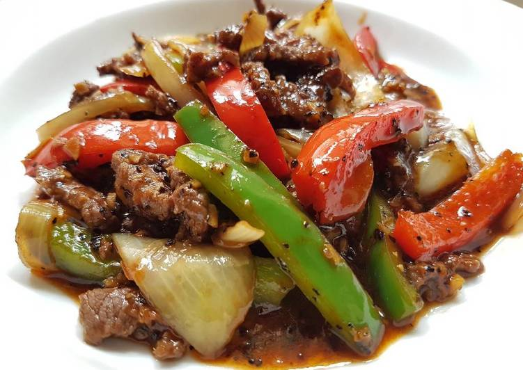 Recipe of Ultimate Stir Fry Beef in Black Pepper Sauce
