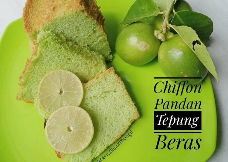 Chiffon Pandan Tepung beras (gluten free) - cookandrecipe.com