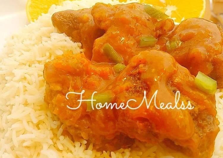 Orange Chicken sauce Basmati rice.#Breakfast idea#Golden apron