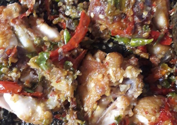 Ayam Penyet simpel (super hot)