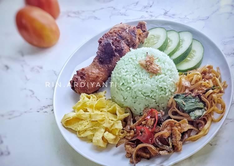 Nasi Uduk Hijau Ricecooker