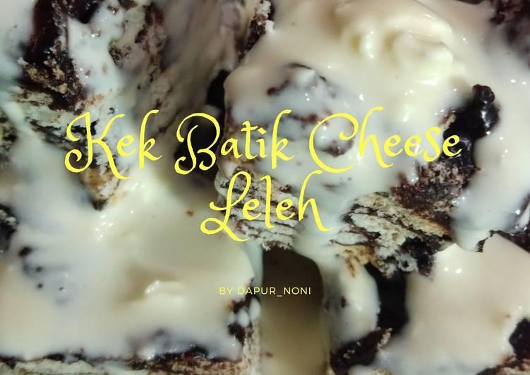Resepi:  Kek batik cheese Leleh  Sempena PKP