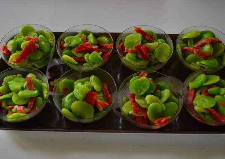 Recette Des Verrines fèves et chorizo