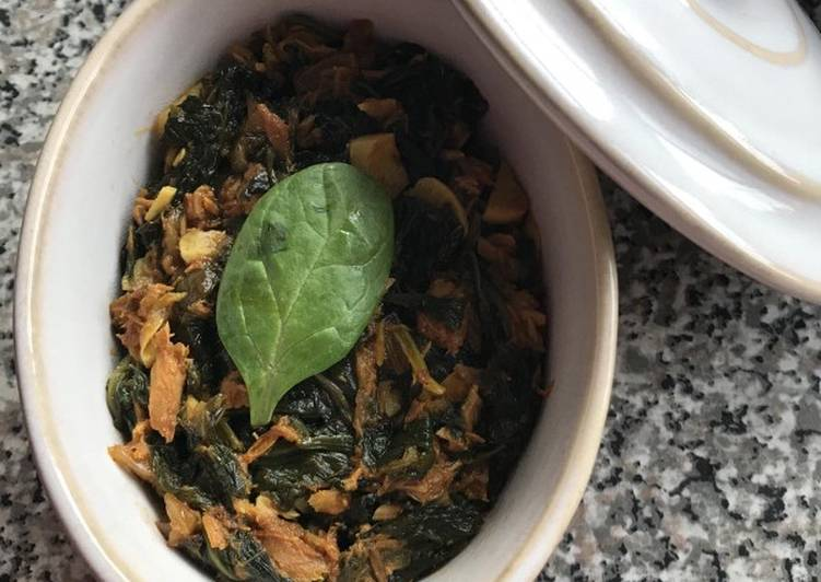 Recipe of Ultimate Mackerel with spinach
