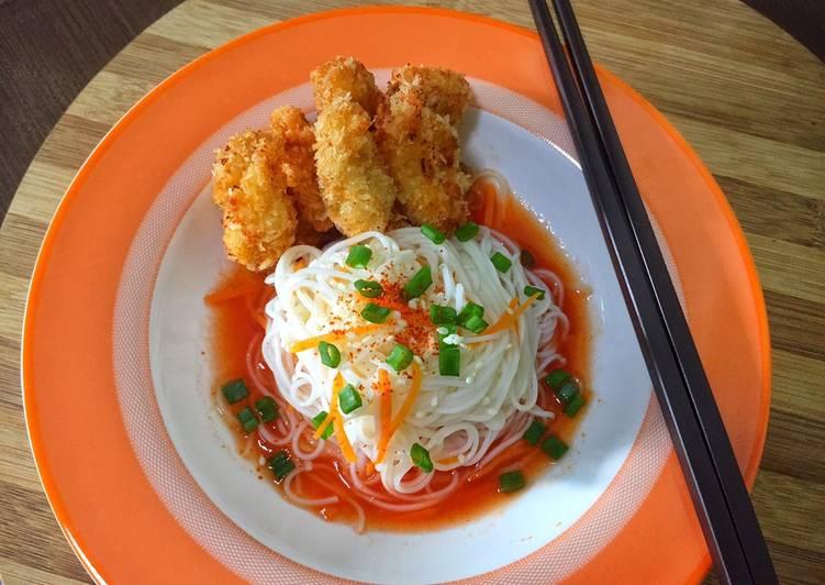 Misua sup tomat ayam keju