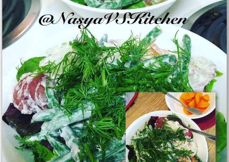 SHRIMP & RED POTATO SALAD (Salad Udang & Kentang)