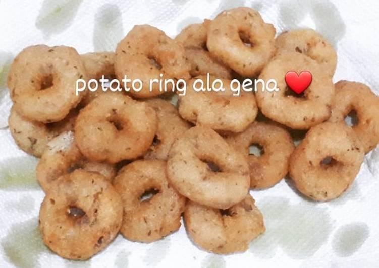 Potato ring/kentang donat (kreasi kentang goreng)
