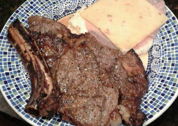 Squirrel's grilled ribeye steak