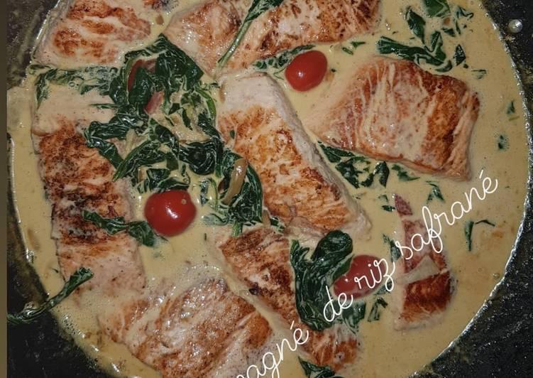 Le moyen le plus simple de Faire Appétissante Saumon sauce épinard parmesan
