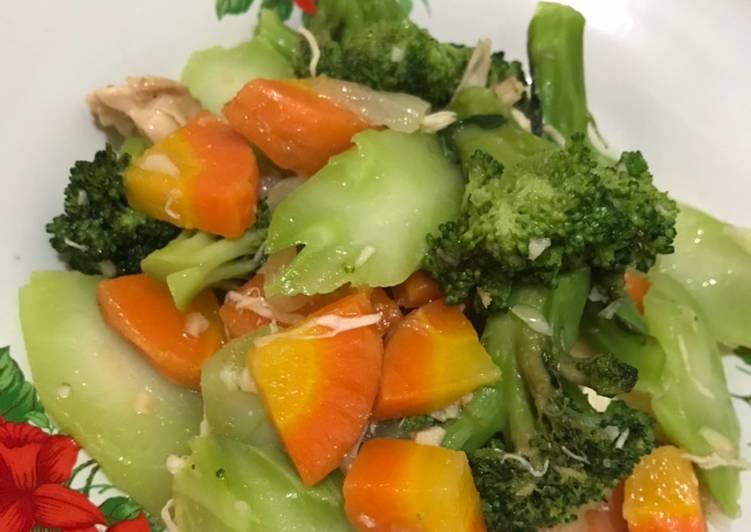 Tumis Brokoli Wortel Dada Ayam