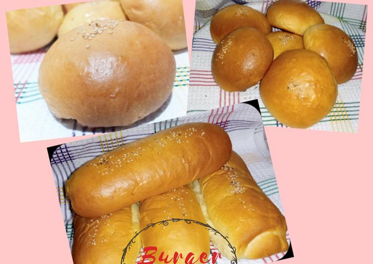 Resep Roti Burger/Hotdog/Roti Jhon