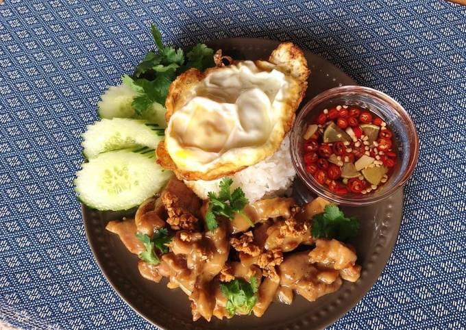 🧑🏽🍳🧑🏼🍳 Thai Garlic & Pepper Chicken •Kai Pad Gratiem Prik Thai  ThaiChef Food