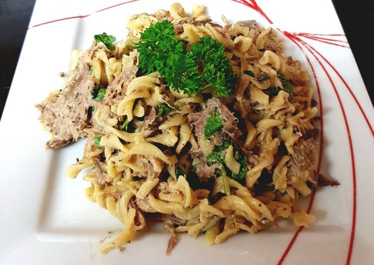 How to Cook Tasty My Lamb Pasta with Yogurt & Mint Sauce. 😍