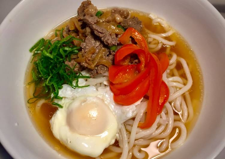 Simple Way to Prepare Favorite Sliced beef udon