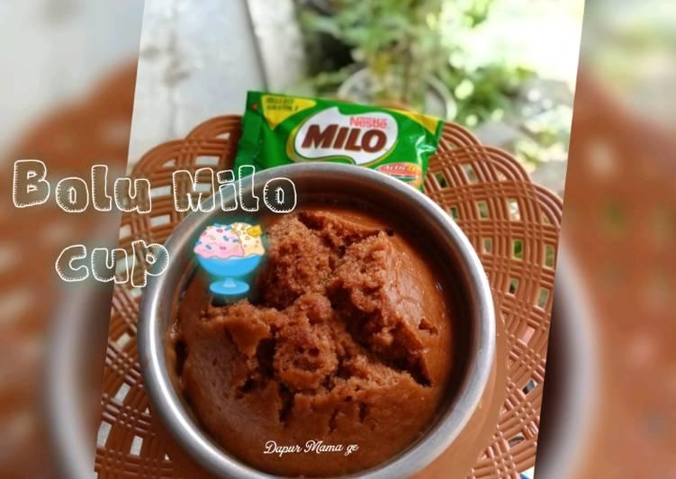 Bolu Milo Cup (tanpa telur)