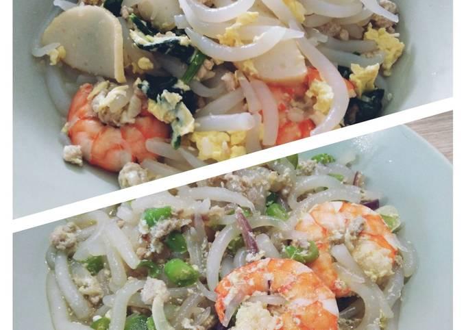 鲜虾炒米苔目 Short Rice Noodles with Shrimps