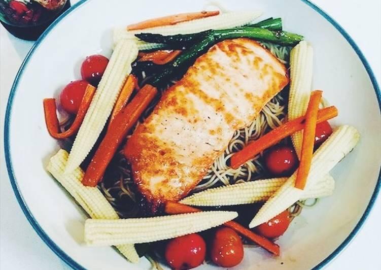 Recipe: Yummy Teriyaki Salmon