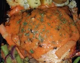 Pollo en salsa de pimentón ahumado