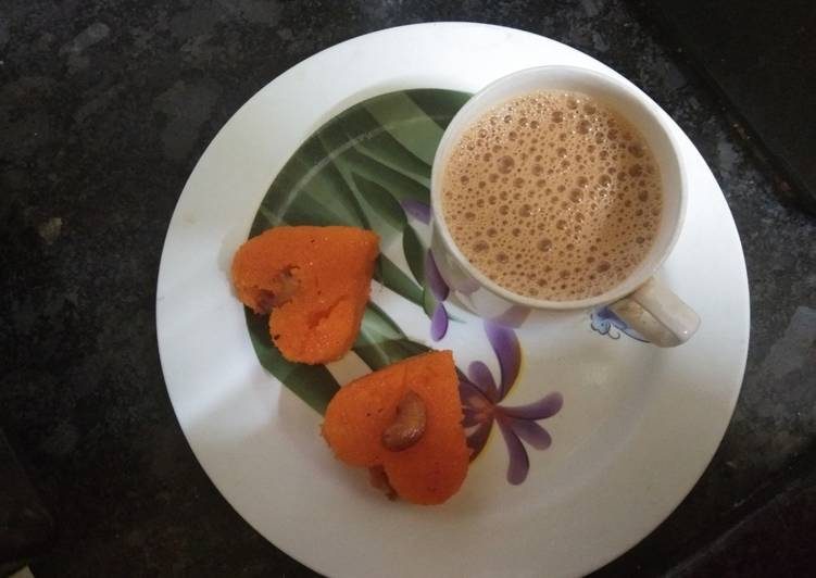 5 Minute Recipe of Blends Ghee rava kesarI