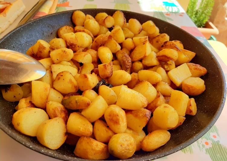 Patate cornette in padella