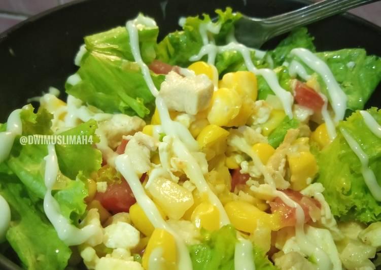 Salad Sayur + Karbo + Protein   Healthy Food   For Diet
