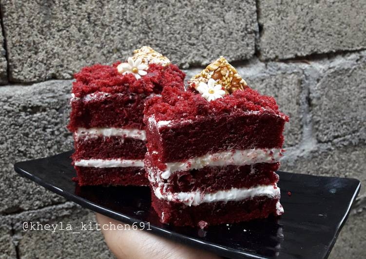 Eggless Red Velvet Cake Ala Kheyla Super Easy